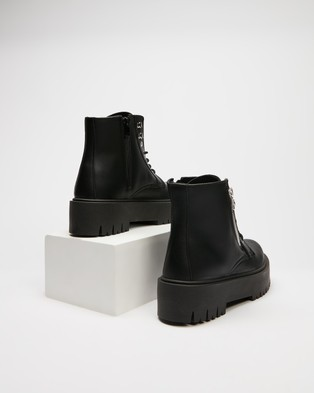 TOPSHOP Bounce Zip Chunky Boots - Boots (Black)