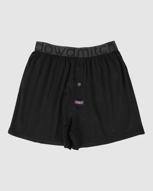 Mitch Dowd Underwear Loose Fit Knit Boxer Short 3 Pack - Boxers (Black)