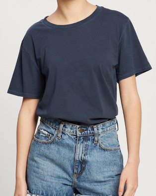 Volcom Pigment Wash Tee - T-Shirts & Singlets (Blue)