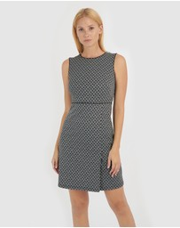 Forcast - Moriah Geo Print Sheath Dress