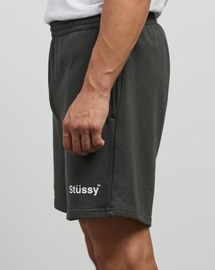 Stussy Text Fleece Shorts - Shorts (Flight Green)