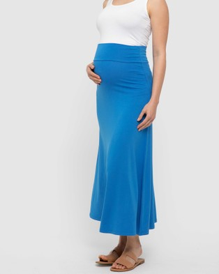 Bamboo Body Lana Long Skirt - Skirts (French Blue)