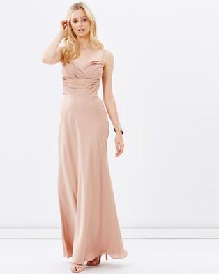 SKIVA – Satin Evening Dress – Bridesmaid Dresses Champagne