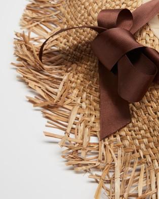 Seafolly Resort Ribbon Tie Hat - Hats (Natural)