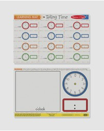 Melissa & Doug - Telling Time Write-A-Mat Bundle of 6