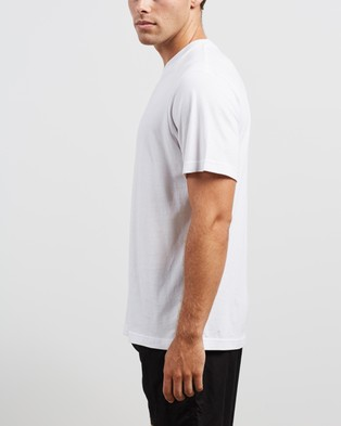 Afends Burning Retro Fit Tee - T-Shirts & Singlets (White)