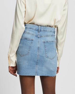 Cotton On Classic Stretch Denim Mini Skirt - Denim skirts (Aireys Blue)