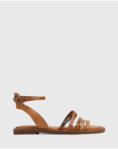 Wittner - Cayenne Multi Leather Flat Strappy Sandals