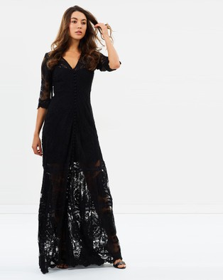 Ministry of Style – Kissed By The Sun Maxi Dress Black