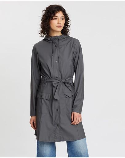 Rains Curve Jacket Charcoal