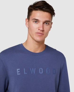 Elwood Basic Crew  - Sweats & Hoodies (Nightshade Blue)