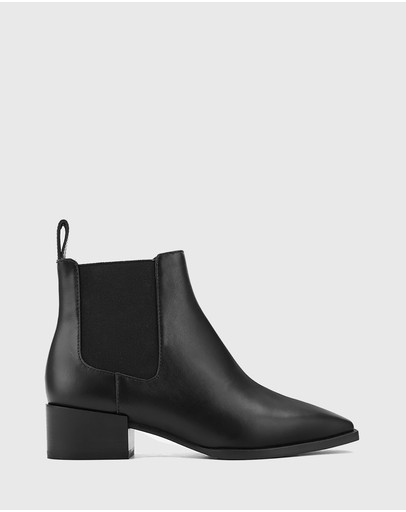 Wittner - Cortez Leather Snib Toe Gusset Ankle Boots