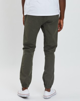 Cotton On Drake Cuffed Pants - Pants (Washed Olive)