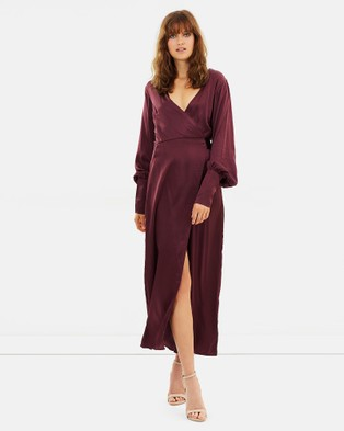 Isabelle Quinn – Elsa Wrap Dress Plum