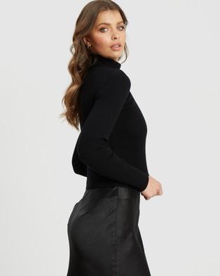 Tussah Melani Knit Top - Jumpers & Cardigans (Black)