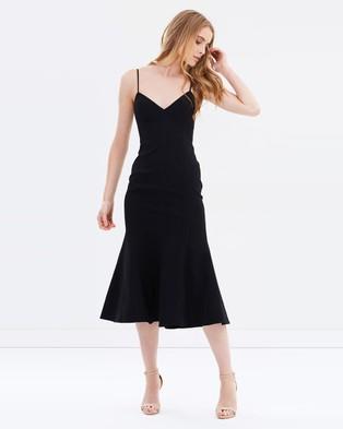 C/MEO COLLECTIVE – Right Now Midi Dress – Dresses (Black)