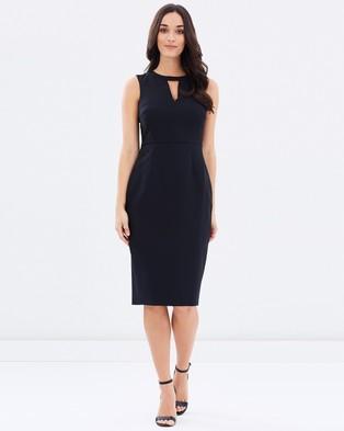Dorothy Perkins – Keyhole Sheath Dress Black