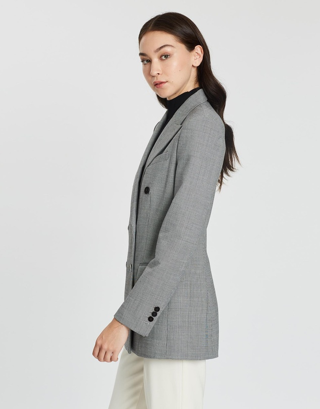 Women Double-Breasted Tailored Jacket B