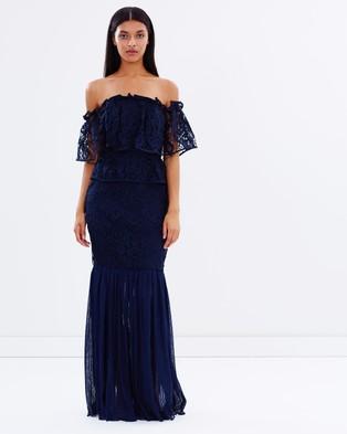 Talulah – Like You Flounce Gown – Dresses (Navy)