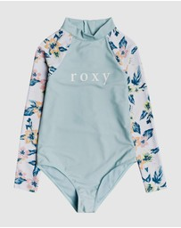 Roxy - Girls 8-14 Pinky Skies Long Sleeve UPF 50 One Piece Swimsuit