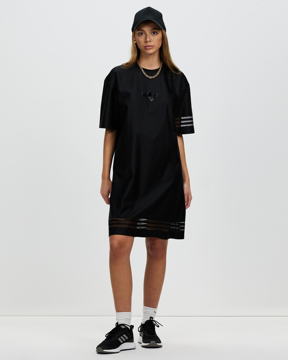 adidas Originals Tee Dress Dresses Black