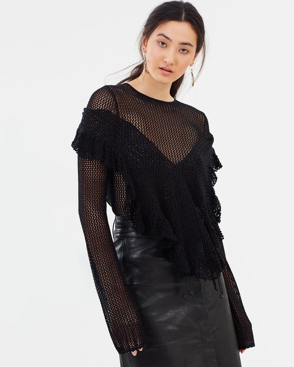 KITX Crochet Top Tops Black Crochet Top