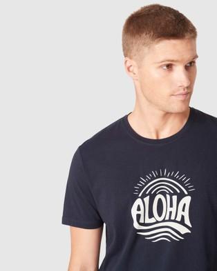 French Connection Aloha T Shirt - T-Shirts & Singlets (MARINE BLUE)