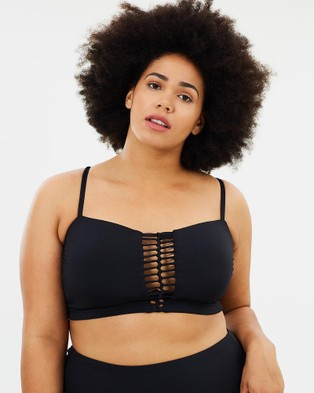 Becca Swim – Curvy No Strings Attached Bikini Top Black