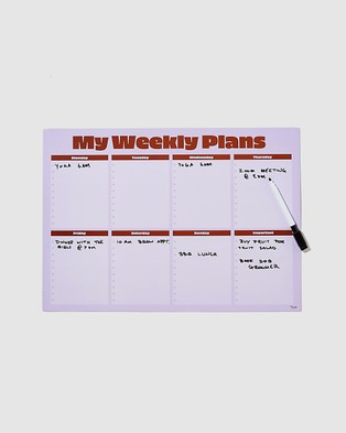 Typo A3 Magnetic Planner - All Stationery (Lilac)