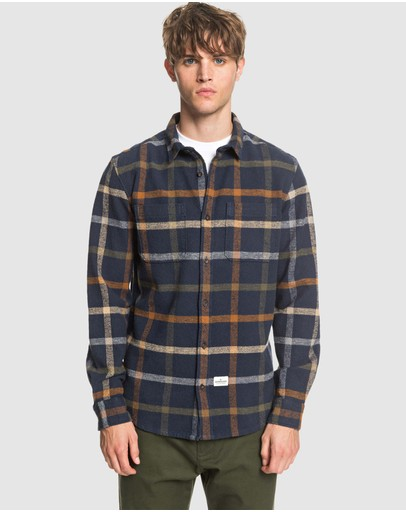 Quiksilver - Mens Crystal Forest Sustainable Long Sleeve Checked Shirt