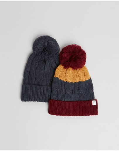 Cotton On Kids - Winter Cable Beanie 2-Pack - Kids