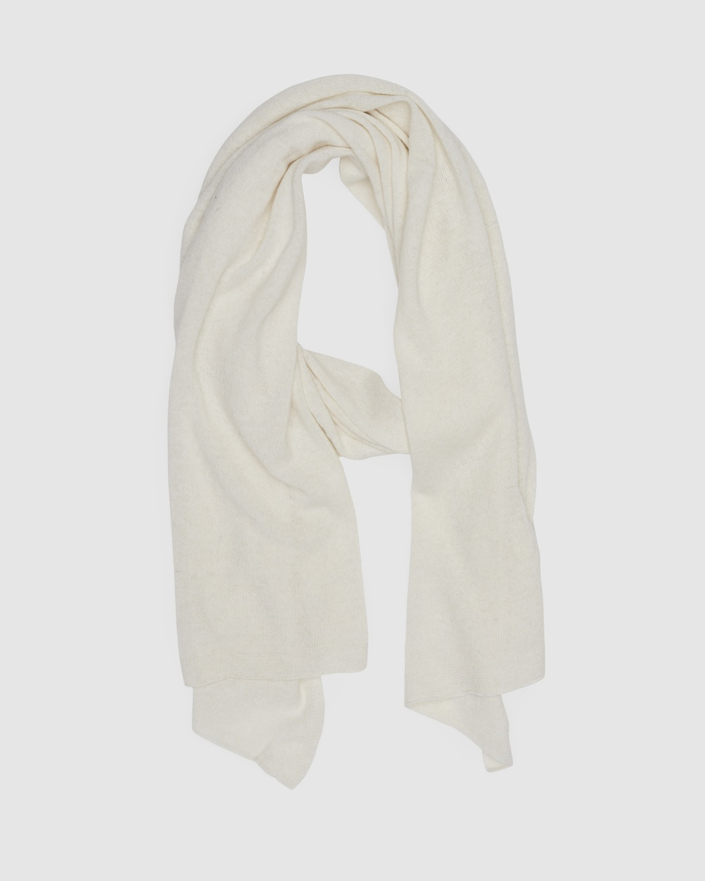 Kate & Confusion Cashmere Blend Scarf Scarves Gloves Ivory