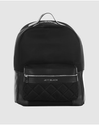JETT BLACK - The Seville Nylon Backpack