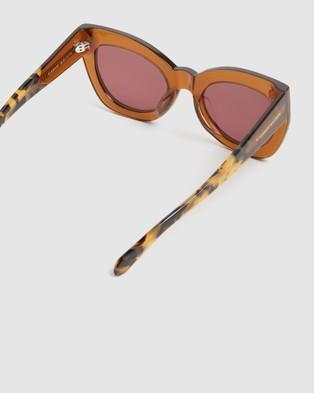 Karen Walker Northern Lights - Sunglasses (Tan Crazy Tort)