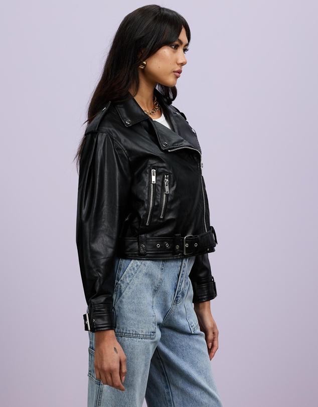 Women Reckless Belted Biker Jacket