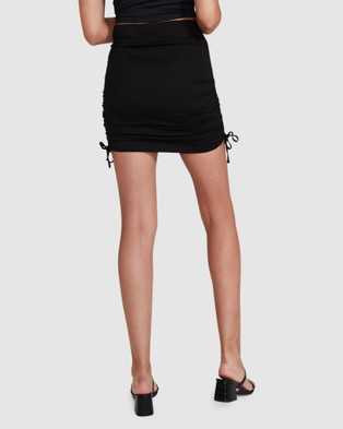 Alice In The Eve Jett Jersey Ruched Skirt Skirts BLACK
