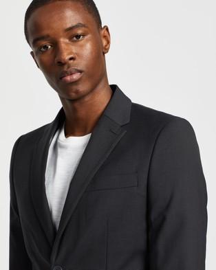 Double Oak Mills Dom Slim Suit Jacket - Suits & Blazers (Charcoal)