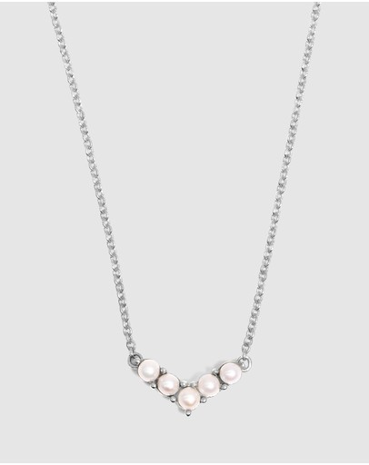 Molten Store The Silver Pearl Odette Necklace
