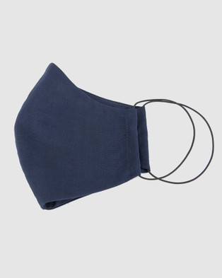 Cupid's Millinery Reusable Cotton Face Mask - Wellness (Navy)