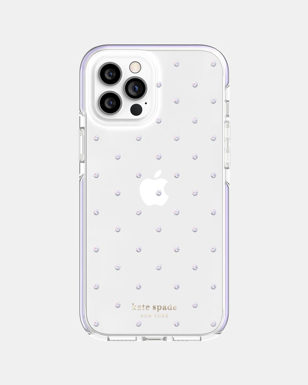 Kate Spade iPhone 12 Pro Max Defensive Case Tech Purple