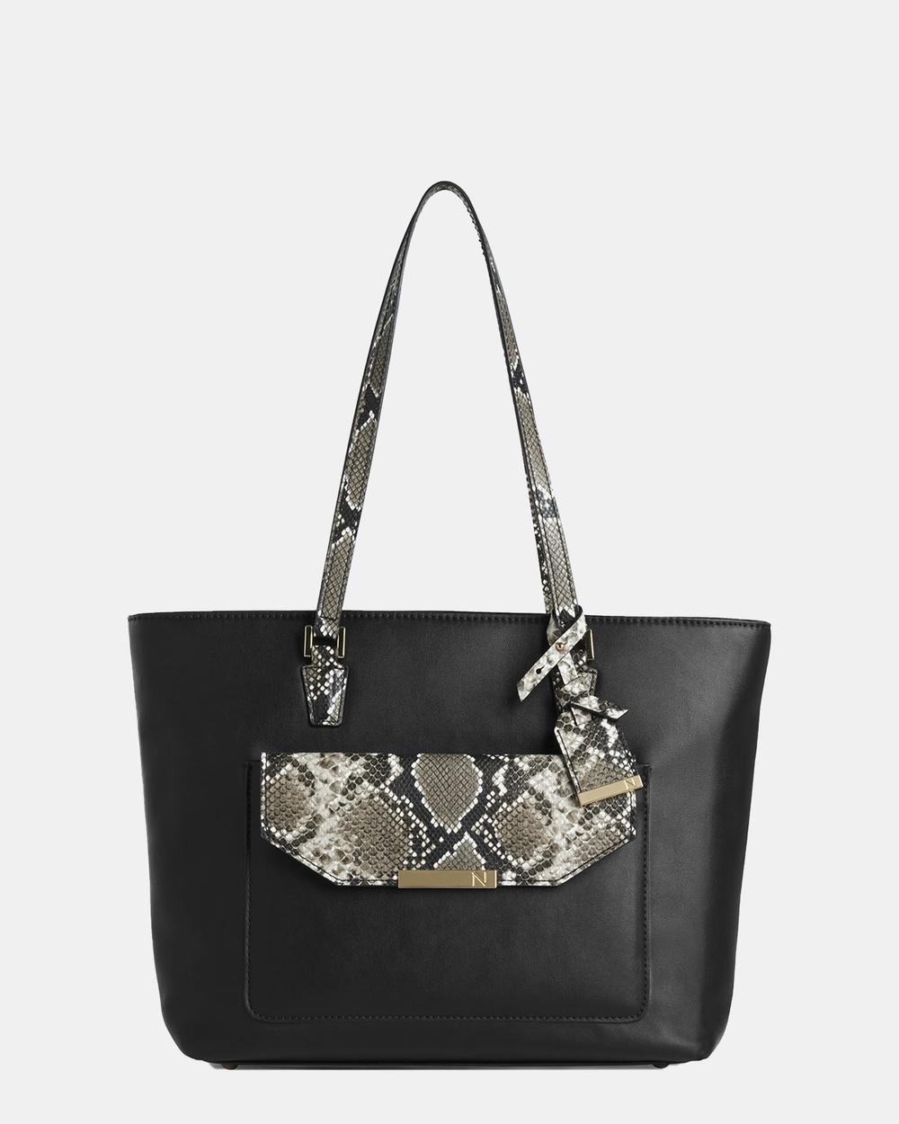 Naturalizer Dylana Tote Bag Bags Black Snake Australia