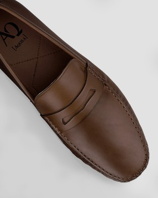 AQ by Aquila Henmore Moccasins - Dress Shoes (Brown)