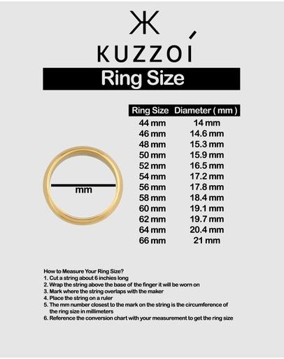 Kuzzoi Ring Signet Onyx Oval Basic In 925 Sterling Silver Black