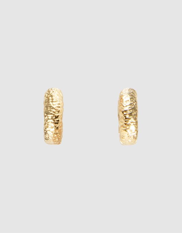 Women Antique Gold Huggies