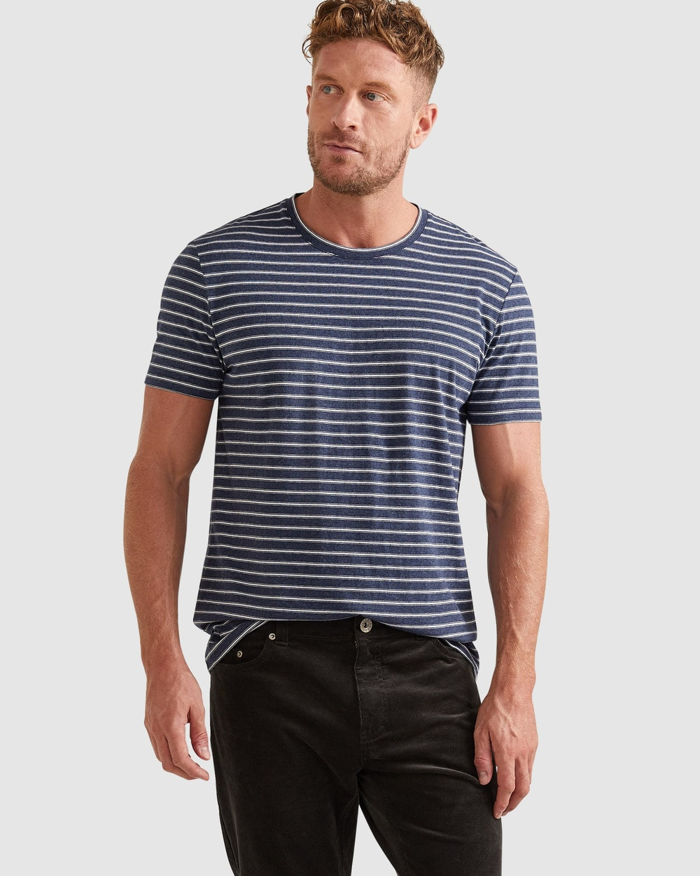 Sportscraft - Supersoft Stripe Tee - T-Shirts & Singlets (Navy Multi) Supersoft Stripe Tee
