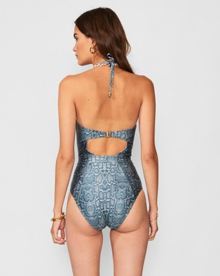 Suboo Sylvie Balconette One Piece - One-Piece / Swimsuit (Green Snake)
