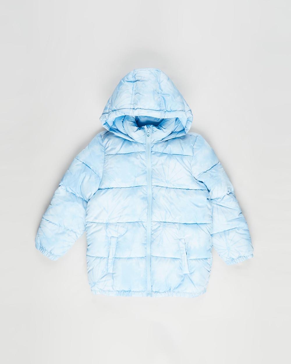 Cotton On Kids Frankie Puffer Jacket Coats & Jackets Sky Haze Tie Dye