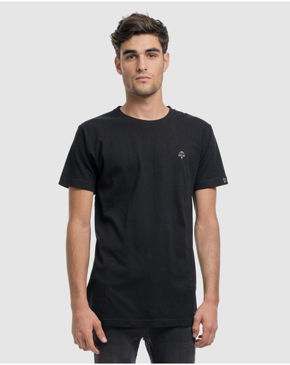 Dvnt Anchor Embroidery Tee Black