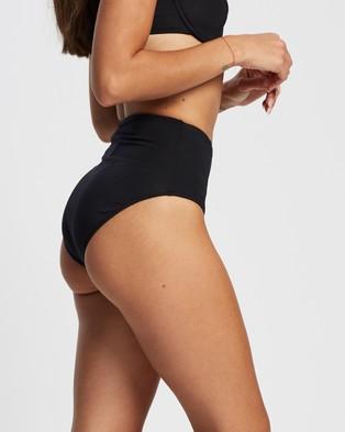 St. Swim Barbados High Waist Bikini Bottoms - Bikini Bottoms (Black)