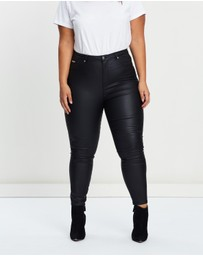 Atmos&Here Curvy - Valerie Coated Skinny Jeans